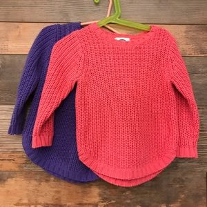 Old Navy toddler sweaters bundle. Size 2T.